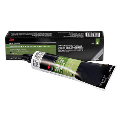 3M™ Black Super Weatherstrip and Gasket Adhesive, 08008, 5 fl oz