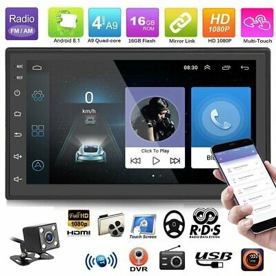 Android 8.1 Double 2Din 7in HD Quad Core GPS WiFi Car Stereo MP5 Player FM Radio