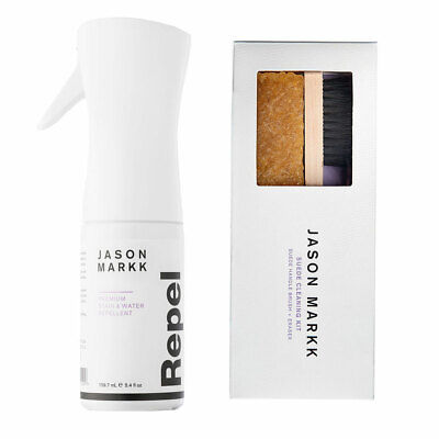 Jason Markk Unisex Repel Shoe Spray and Suede Kit (Combo) White Shoe Cleaner ...