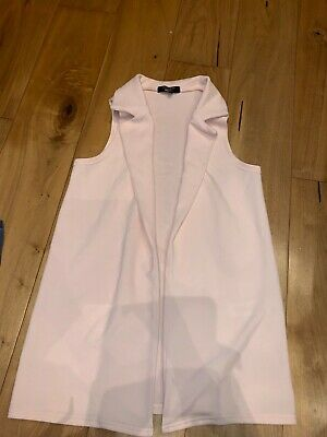 New Look age 10-11 years pink gilet girls long waistcoat WORN ONCE