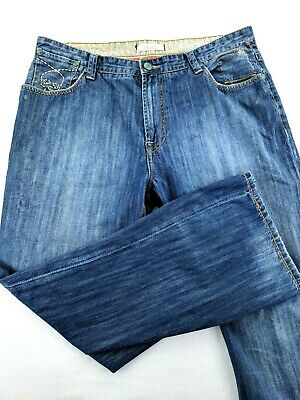 Marc Ecko Mens Jeans 36x30 Distressed Boot Cut Denim Ed Hardy New York Loose Fit