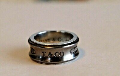 dcfe6650c660f AUTHENTIC TIFFANY & Co Sterling 925 Silver / Titanium Ti 1837 Ring size 4 -  4.25