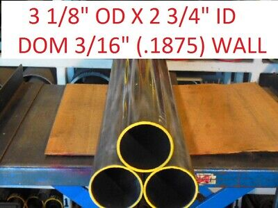"E0234  Dom Round Steel Tube  3.125 Od  X   2.750  Id  (.187 Wall)   60""  Long"