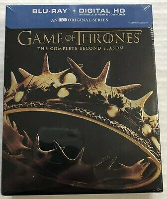 Game of Thrones The Complete Season 2 (Bluray, 2016, 5 Discs, Canadian) New