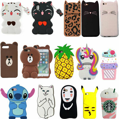 For iPhone 5 6 7 8 X XR XS Max New Cute Hot 3D Popular Soft Silicone Case Cover