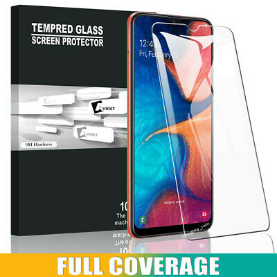 Samsung Galaxy A20 A30 A50 Full Cover Coverage Tempered Glass Screen Protector