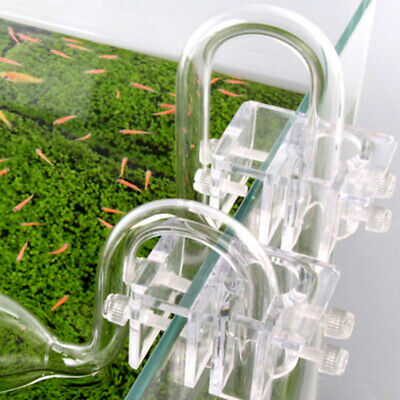 Filter Aquarium Tube Pipe Transparent Acrylic Accessories Lily Glass Support