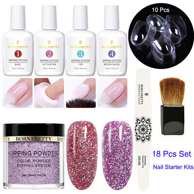 BORN PRETTY Nail Dipping Powder System Liquid Brush Set Nail Art Starter Kits