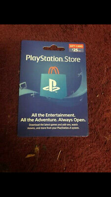 Psn Card 25 Dollars Brand New Not Activated