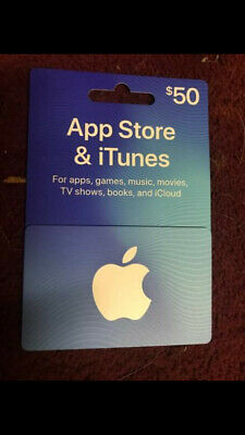 Itunes Gift Card 50 Dollars Brand New Not Activated