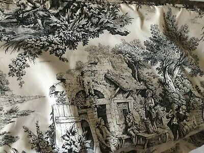 Gorgeous French Country Black&White Toile Mounted Window Shade/Valance