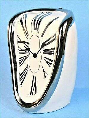 Salvador Dali The Melting Clock Surreal Figural Ceramic Coin Bank Rare