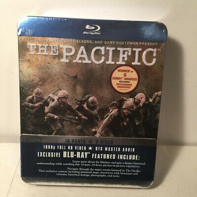 THE PACIFIC - The Complete Series Blu-ray HBO Miniseries Tin NEW WWII HBO