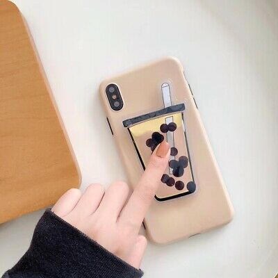 Dynamic Liquid Pearl Bubble Tea Soft Phone Case Cover For Apple iPhone 6-XS Max