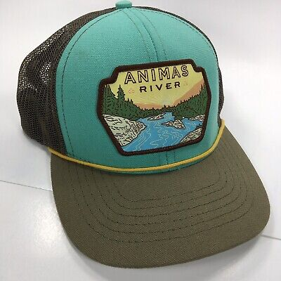 34bbceba Sendero Provisions Co. Animas River Trucker Mesh Hat Adjustable Fit Teal  Brown