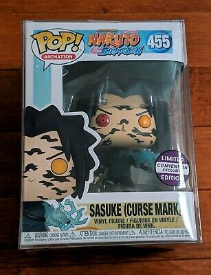 Funko POP! Sasuke Curse Mark 455 Naruto Shippuden Convention Exclusive w/ Case