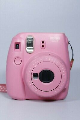 FUJIFILM Instax mini 9 FLAMINGO PINK FILM CAMERA 60MM FOCUS 0.6M (UNTESTED)