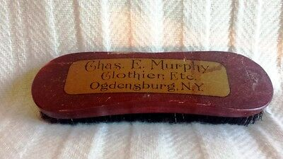 Antique Labeled Clothing Store Clothes Brush Chas. E. Murphy Ogdensburg New York