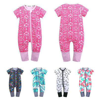 Newborn Toddler Baby Boys Girls Cartoon Print Romper Jumpsuit Outfits Clothes