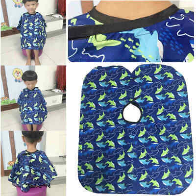 Waterproof Kids Barber Cape Hair Cutting Gown Apron Hairdressing Covers Dress