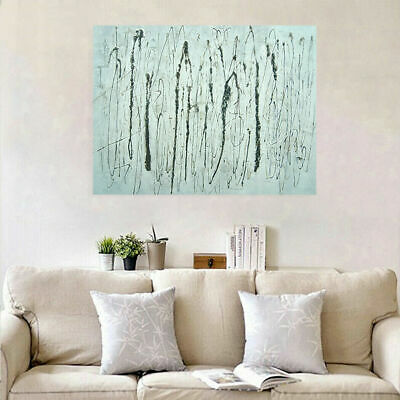 Modern Abstract Hand Painted Wall Art Canvas Oil Painting : Line ArtFramed
