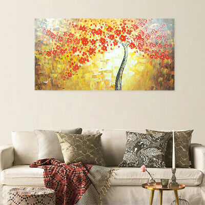 *Flower Tree* Hand Painted Art Canvas Oil Painting Abstract Home Decor Framed