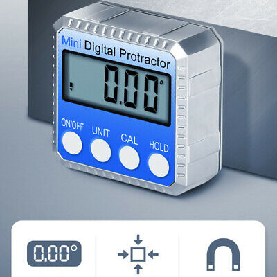 360° Digital Display Level Angle Protractor Inclinometer Measuring Magnet Tools