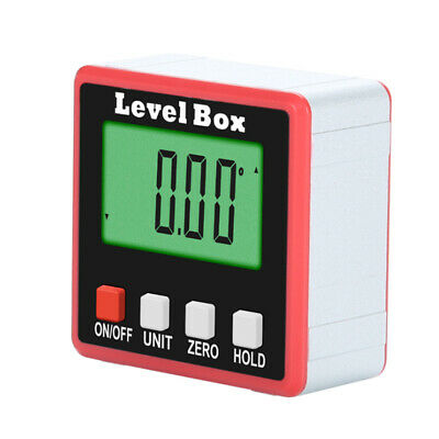 1X 360° Digital Inclinometer Spirit Level Box Angle Finder Bevel Protractor Tool