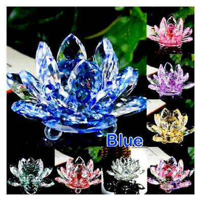 Crystal Lotus Flower Ornament Large Crystocraft Home Decor_ All Colours Free P&P