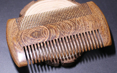 Green Sandalwood Pocket Beard & Hair Combs Handmade Natural Wood Comb with Fine