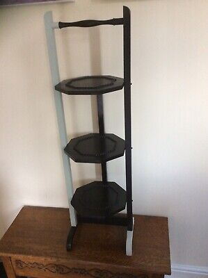 Cake Stand, Vintage C 1950's 3 Tiers Folding