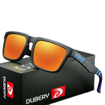 DUBERY Polarized Sunglasses Mens Sports Running Fishing Golfing Driving Glasses