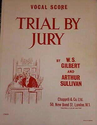 Very good Cindition Vocal Score  Trial By Jury