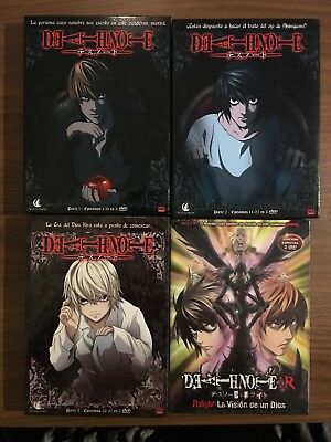 LOTE DEATH NOTE Serie Completa + Especial TV RELIGHT DVD Anime Español