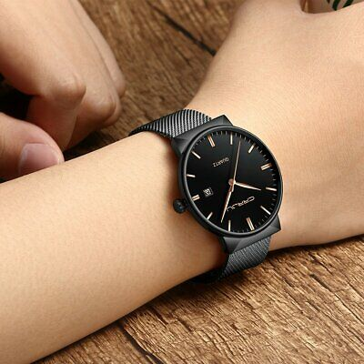 Men's Business Watches Casual Luxury Stainless Steel Band Quartz Wrist Watch