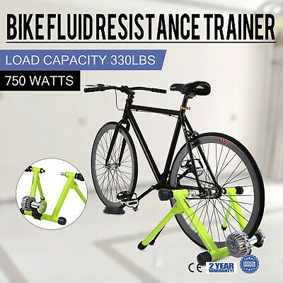 Indoor Bike Trainer Stand Fluid Resistance Exercise Powerful Smooth Bicycle