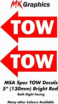MSA Spec TOW Stickers Bright Red Race Rally Trackday JDM Tuning