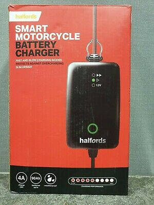 Halfords Motorcycle Battery Smart Charger For 12V 90Ah Overcharge Protection
