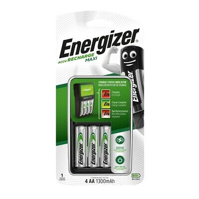 Energizer Recharge Maxi Battery Charger (AA,AAA) with 4-Batteries Included