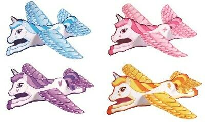 Unicorn Flying Gliders, Party Loot Bag Fillers, Kids Toy Planes 1, 6, 12