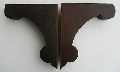 "VICTORIAN SOLID WALNUT CORBELS SHELF BRACKETS SUPPORTS 7 1/2"" high X 5 3/4"" deep"