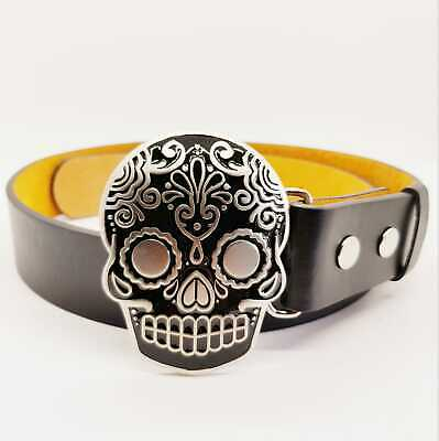 Candy Skull Day of the Dead Muertos Mexican Belt Buckle Biker Metal Pagan