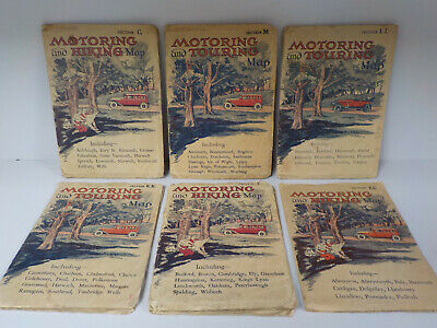 Motoring And Touring Map - 6 Vintage Maps! (ID:767)