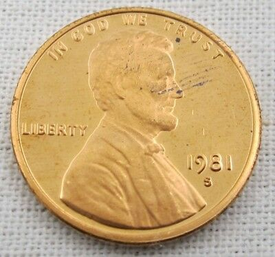 1981 S Proof Lincoln Memorial Cent/Penny - Type 1 (1170)