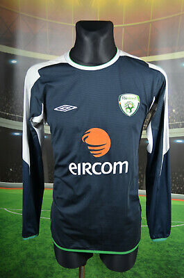Ireland Eire Umbro Training Football Soccer Shirt (M) Jersey Top Trikot Vtg Mens