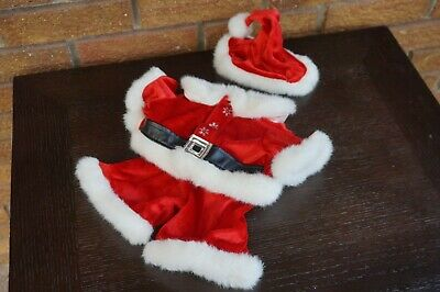 4f389167f70e BUILD A Bear Clothes SANTA CLAUS Outfit Set Suit Red White Shirt Pants Hat