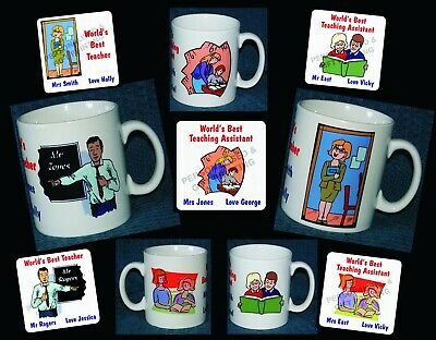 Personalised Mug Or Coaster Best Teacher Teaching Assistant Lsa Thank You Gift