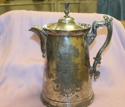 VINTAGE ~ Meriden B-Company ~ VICTORIAN Silverplate Water Pitcher ~ Number 192