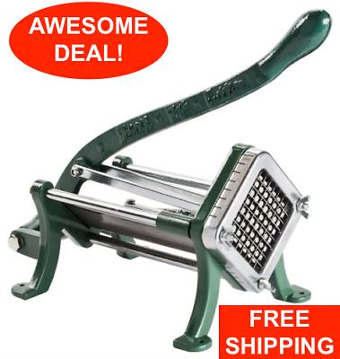"3/8"" Green French Fry Cutter Potato Slicer Dicer Copper Commercial Restaurant"