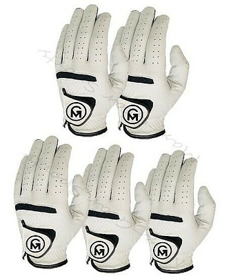 Golf Gloves for Mens All Weather Full Cabretta Leather glove pack of 3 left hand